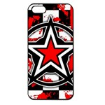Star Checkerboard Splatter Apple iPhone 5 Seamless Case (Black)