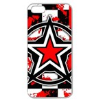Star Checkerboard Splatter Apple Seamless iPhone 5 Case (Clear)