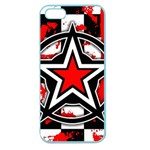 Star Checkerboard Splatter Apple Seamless iPhone 5 Case (Color)