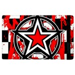 Star Checkerboard Splatter Apple iPad 3/4 Flip Case