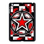Star Checkerboard Splatter Apple iPad Mini Case (Black)