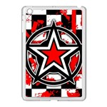 Star Checkerboard Splatter Apple iPad Mini Case (White)
