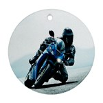 Vehicles Motorcycle Racer Ornament (Round)