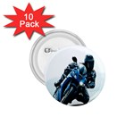 Vehicles Motorcycle Racer 1.75  Button (10 pack)