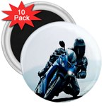 Vehicles Motorcycle Racer 3  Magnet (10 pack)
