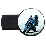 Vehicles Motorcycle Racer USB Flash Drive Round (2 GB)