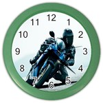 Vehicles Motorcycle Racer Color Wall Clock