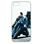 Vehicles Motorcycle Racer Apple Seamless iPhone 5 Case (Clear)