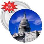Usa White House 3  Button (10 pack)
