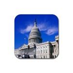 Usa White House Rubber Coaster (Square)