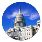 Usa White House Magnet 5  (Round)