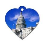 Usa White House Dog Tag Heart (One Side)