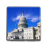 Usa White House Memory Card Reader with Storage (Square)