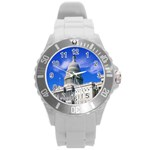 Usa White House Round Plastic Sport Watch Large