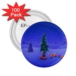 Walking Christmas Tree In Holiday 2.25  Button (100 pack)