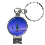 Walking Christmas Tree In Holiday Nail Clippers Key Chain