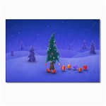 Walking Christmas Tree In Holiday Postcard 4  x 6