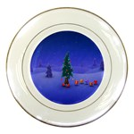 Walking Christmas Tree In Holiday Porcelain Plate