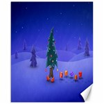 Walking Christmas Tree In Holiday Canvas 16  x 20