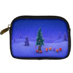 Walking Christmas Tree In Holiday Digital Camera Leather Case