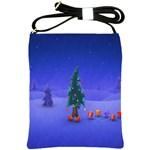 Walking Christmas Tree In Holiday Shoulder Sling Bag