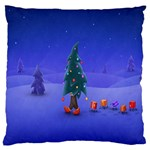 Walking Christmas Tree In Holiday Large Cushion Case (One Side)