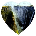 Victoria Falls Zambia Jigsaw Puzzle (Heart)