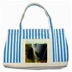 Victoria Falls Zambia Striped Blue Tote Bag