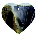 Victoria Falls Zambia Heart Ornament (Two Sides)