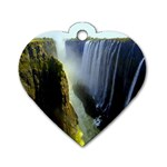 Victoria Falls Zambia Dog Tag Heart (Two Sides)