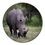 Wild Animal Rhino Round Mousepad