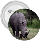 Wild Animal Rhino 3  Button