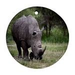 Wild Animal Rhino Ornament (Round)