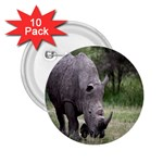 Wild Animal Rhino 2.25  Button (10 pack)
