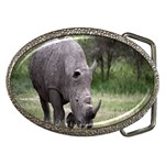 Wild Animal Rhino Belt Buckle