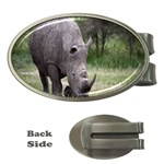 Wild Animal Rhino Money Clip (Oval)