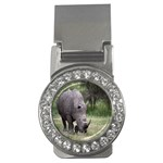 Wild Animal Rhino Money Clip (CZ)