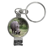 Wild Animal Rhino Nail Clippers Key Chain