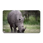 Wild Animal Rhino Magnet (Rectangular)