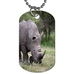 Wild Animal Rhino Dog Tag (One Side)