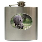 Wild Animal Rhino Hip Flask (6 oz)