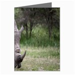 Wild Animal Rhino Greeting Card