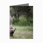 Wild Animal Rhino Mini Greeting Card