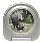 Wild Animal Rhino Travel Alarm Clock