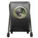 Wild Animal Rhino Pen Holder Desk Clock