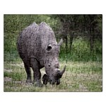 Wild Animal Rhino Jigsaw Puzzle (Rectangular)