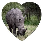Wild Animal Rhino Jigsaw Puzzle (Heart)
