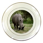 Wild Animal Rhino Porcelain Plate