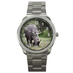 Wild Animal Rhino Sport Metal Watch