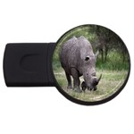 Wild Animal Rhino USB Flash Drive Round (4 GB)